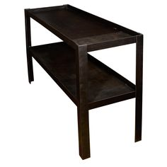 Belgium 2 Tier Steel Console | From a unique collection of antique and modern console tables at http://www.1stdibs.com/furniture/tables/console-tables/