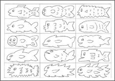 Free printable fish cards (Sept) for easy-to-make fishing game-  (Free Fun and Games)