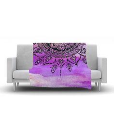 East Urban Home Mandala by Li Zamperini Fleece Blanket Color: Lilac