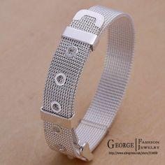 silver belt bracelet jewelry - Aliexpress