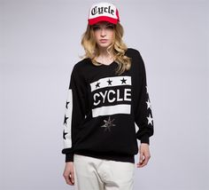 WFL152 - Cycle #cyclejeans #woman #apparel #springsummer #collection #style #fashion #black #sweater #hoodie