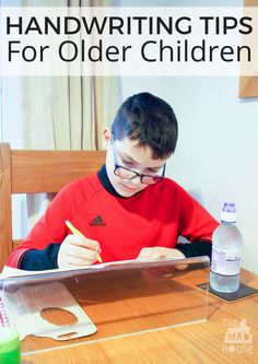 Practical and easy to follow handwriting tips for older children are perfect for improving legibility and speed, including fine motor skills for older kids.