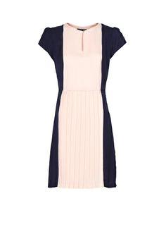 MANGO - Two-tone pleated dress