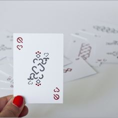 Minimalist playing cards. Meet the queen