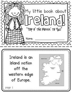 Ireland Booklet (A Country Study!)-- Use during social studies units about countries around the world! TeachersPayTeachers