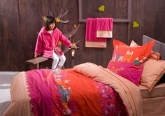Catimini bedding - Nuit Fleurie Twin Set - the most recent addition to my daughter's room. Daughters Room, To My Daughter, Flat Sheets, Decoration, 3 Piece, Bean Bag Chair, Duvet Covers, Twins, Pillows