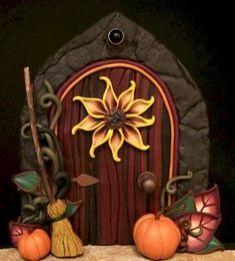 clay fairy garden door