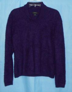 PRIVE CASHMERE Sweater Women Size M Medium -Deep Purple -Long Sleeve - Soft #Fashion #Style #Deal