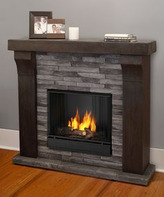 Look at this Gray Ledgestone Avondale Cast Ventless Gel Fireplace on #zulily today!