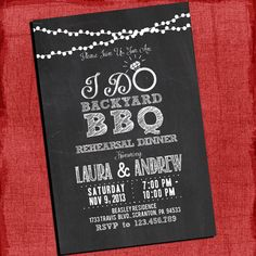 "Printable ""I Do"" Backyard BBQ Dinner  or  Barbecue Couples/Coed Wedding Shower Invitation-Choose your colors-I Design You Print on Etsy, $15.00"