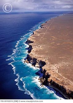Bunda Cliffs on the Nullarbor Coast - Southern Ocean, South Australia. Next stop - Antarctica. Visit Australia, South Australia, Western Australia, Australia Travel, Oh The Places You'll Go, Places To Travel, Places To Visit, Beautiful World, Beautiful Places