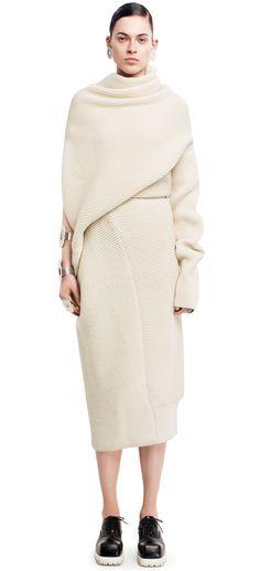 Gala oversized sweater dress in alternating knits #AcneStudios #FallWinter2014