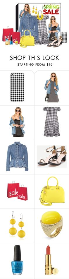 """SPRING Sale ... Denim and Gingham Check !!"" by fashiongirl-26 ❤ liked on Polyvore featuring DL1961 Premium Denim, James Jeans, Alexander McQueen, DKNY, Kenneth Cole, Ariella Collection, OPI, Elizabeth Arden and Calvin Klein"