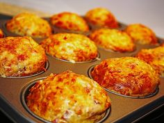 Ham and cheese muffins – Pizza Ideas Muffin Recipes, Pizza Recipes, Cheesecake Recipes, Brunch Recipes, Casserole Recipes, Snacks Pizza, Party Snacks, Mexican Breakfast Recipes, Mexican Food Recipes