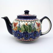Red Butterfly Pottery Teapot 208AR