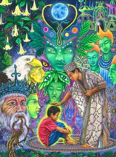 Artwork by JheffAu. Fantasy Kunst, Fantasy Art, Magic Day, Psychadelic Art, Psy Art, Spirited Art, Mystique, Visionary Art, Illustrations