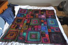 Granny's a Square Afghan - I want to learn how to knit this!
