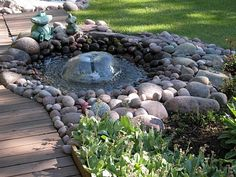 Suihkulähde Water Garden, Water Features, Vegetable Garden, Stepping Stones, Pond, Diy And Crafts, Pergola, Home And Garden, Backyard