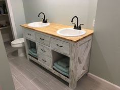 Rustic Bathroom Vanity | Do It Yourself Home Projects from Ana White