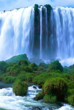 The Victoria Falls in Zambia. Although it is not the highest nor the widest waterfall in the world, it is still qualified as the largest, because it has the world's largest sheet of falling water.