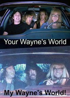 LMAO! My Wayne's World is better. - Supernatural season 7 gag reel.
