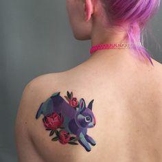 Best Tattoos from Unique Tattoo Artist Sasha Unisex - Doozy List Bild Tattoos, Sexy Tattoos, Unique Tattoos, Beautiful Tattoos, Sleeve Tattoos, Tattoos For Women, Cool Tattoos, Creative Tattoos, Bunny Tattoos