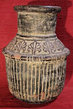Altri Complementi D'arredo Antiquariato Ottone Vaso Arabo Anni 50 Decorato A Mano Top Collezionismo Vintage