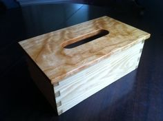 Tissue Box Cover - First Handcut Dovetails
