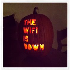 meganmackay: This year I carved a REALLY spooky pumpkin.