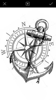Tiger Tattoo Design, Anchor Tattoo Design, Infinity Tattoo Designs, Christian Tattoos, Wood Burning Crafts, Desenho Tattoo, Compass Rose, Compass Tattoo, Tatoos