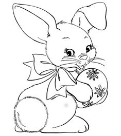 Free Printable Easter Coloring Pages are fun for all ages! Easter egg coloring pages, Easter bunny coloring pages, & more adorable Easter pictures to color! Free Easter Coloring Pages, Easter Bunny Colouring, Easter Egg Coloring Pages, Animal Coloring Pages, Coloring For Kids, Colouring Pages, Coloring Books, Easter Coloring Pictures, Free Coloring