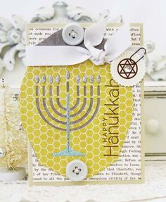 Happy Hanukkah Card by Melissa Phillips for Papertrey Ink (October 2012)