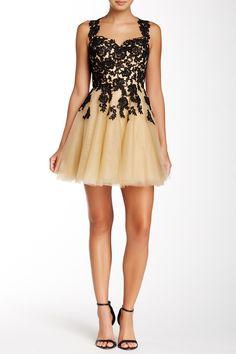 Embroidered Sleeveless Dress by La Femme on @HauteLook