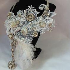 Avant Garde, Neo Victorian wedding necklace.