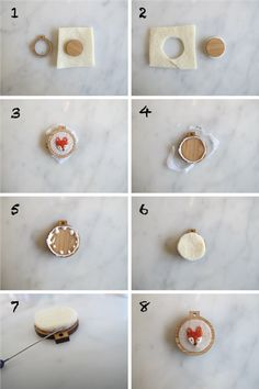 Tutorial: Finishing your tiny miniature embroidery hoop frames / the creative muster