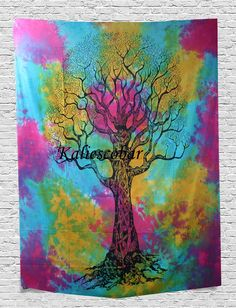 Indian Hippie Tapestry Tree Of Life Wall Hanging Bohemian Wall Tapestry Dorm Decor Bedding Beach Blanket Throw 55 X 85 Inches 139 X 215 cm Tree Of Life Tapestry, Bohemian Wall Tapestry, Tie Dye Tapestry, Tapestry Bedding, Dorm Tapestry, Indian Tapestry, Mandala Tapestry, Tapestry Wall Hanging, Bohemian Decor