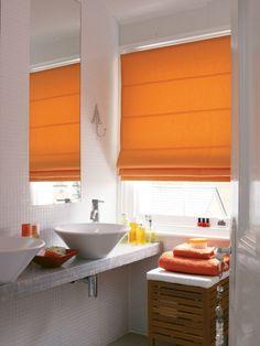 1000 Images About Bathroom Design Ideas On Pinterest Orange Roman Blinds Roller Blinds And
