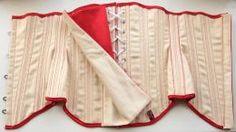 Inside a professionally made corset