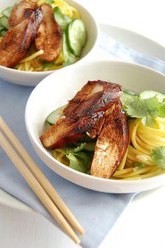Teriyaki chicken soba salad-just like at Bamboo Hut in Vancouver!