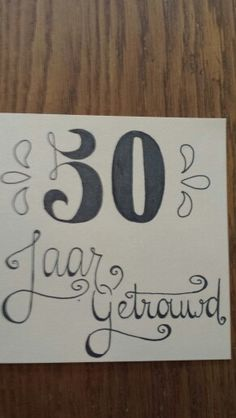 50 jaar getrouwd Card Drawing, Brush Lettering, Zentangle, Chalkboard, How To Draw Hands, Doodles, Greeting Cards, Bullet Journal, Symbols