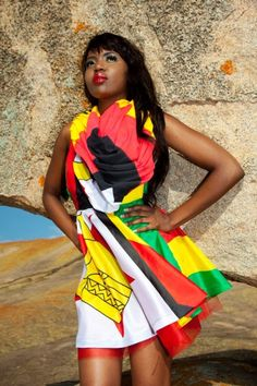 That is my country! I want that Zimbabwe flag dress That is my country! I want that Zimbabwe flag dress Zimbabwe Flag, African Wear, African Women, African Fashion, Women's Fashion, Beauty Redefined, Flag Dress, African Models, Africa