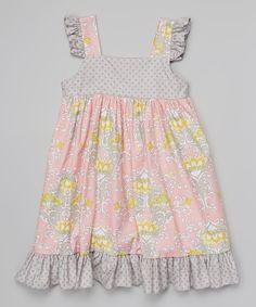 Look at this Pink Priscilla Damask Flutter Dress - Infant, Toddler 29.