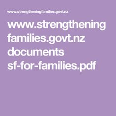nz documents sf-for-families. Families, Pdf