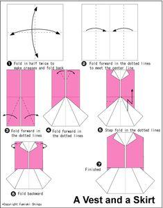 un vestidito en origami