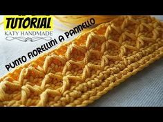 Tutorial uncinetto punto fiorellini (o thai) a pannello | Crochet || Katy Handmade - YouTube