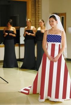 american flag wedding dress. @Andréa Zurek another reason besides me not being invited that your wedding wasnt as great...you did not wear this dress...and you call yourself a patriot