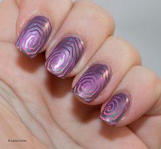Lacky Corner: Pink gradient stamping!