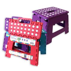 Folding step stool - for when you can't reach the top shelf storage, or your bed is raised, or you're hanging string lights... these are so much important than they seem, and often overlooked.