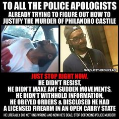 All those people saying well if black people followed orders, this stuff wouldn't happen are WRONG. Philando Castile is yet another example.