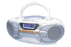 RADIOGRABADORA CDY400  Reproduce CD, MP3 y Cassette Entrada USB Entrada Auxiliar Sintonizador de radio FM y AM Dos bocinas de 2x15W RMS 200 Watts MAX